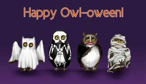 Happy Owl-oween by LeeAnneKortus