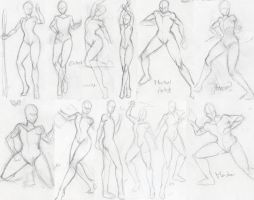 Pose Sketch Dump 3 by WargmoDesign