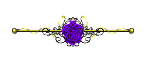 Purple Rose Border Gold by CosmicDragonJazz