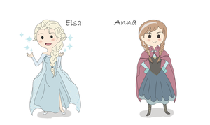 Elsa and Anna by Tanuki-desu
