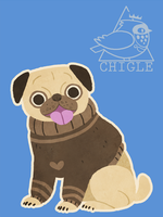Pug by Chigle