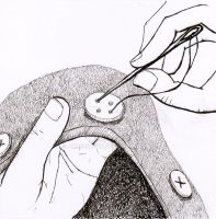 how to sew a button 3 by amberhlynn