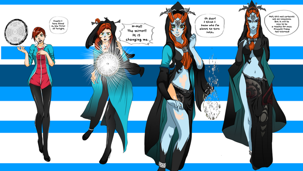 Turned into Midna. ( F2F SEQUENCE  COM) by Gwyndolin115