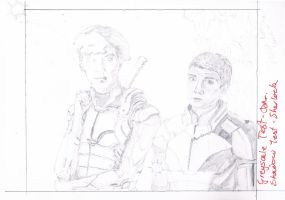 Let's Draw Sherlock x Mass Effect Crossover WIP3.5 by mythlover20