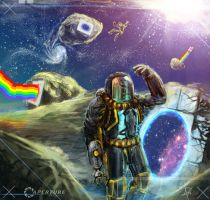 Nyan Cat in SPAAACE - Portal 2 by gagatun