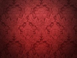Red Vignette Damask by R2krw9