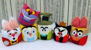 Owl Plushies Inspired by Alice in Wonderland by sylvialovespink