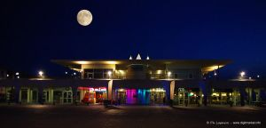 Moonlight over the casino by DigitPhil