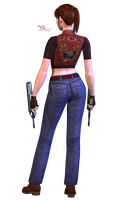 Claire Redfield RE CVX render by VickyxRedfield