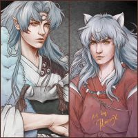 Sesshomaru Inuyasha Semirealism by marvioxious89
