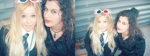 Luna Lovegood and Bellatrix lestrange cosplay by MissWeirdCat