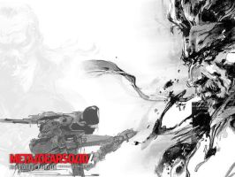 Metal Gear Solid 4 Wallpaper by KingTeDdY
