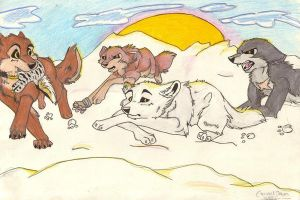 yeay its wolfs rain by brownwhisker