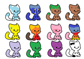 FREE KITTY ADOPTABLES!(CLOSED) by Solarfox123