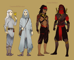 Laurendil and Yassir by LadyDeadPooly