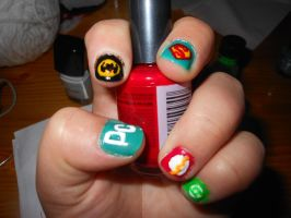 DC Universe Nailss by willow1894