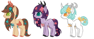 [A] Flower cage ponies OTA - CLOSED by Chrysanthanos
