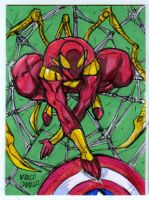 Iron Spider sketch card commission by mdavidct