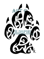 Celtic Tribal Coyote Print by WildSpiritWolf