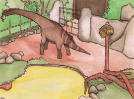 giraffatitan enclosure by halfpennyro04