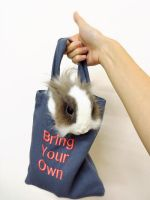 Bring your own Bunny when you go Shopping! by yeerabbit