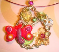 Secret Garden - pendant by colourful-blossom