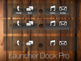 LauncherPro Dock Skin 2 by Geordie-Boyo