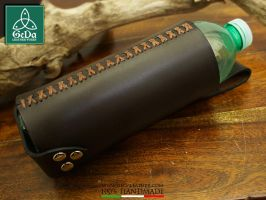 Leather Bottle Holder 5 by GeDaLeather