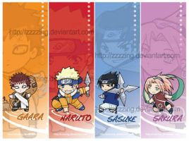 Bookmarks - Naruto by zzzzing