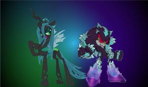 Mephiles and Chrysalis-wallpaper. by brandonale