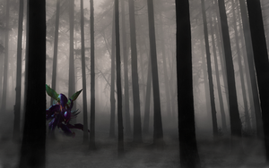 Kha'Zix in the forest by SeverinSan