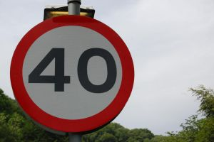 '40 Zone' Sign by JS92
