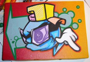B Boy ball canvas by EUKEE
