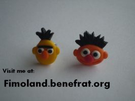 Bert and Ernie earrings by Shatya