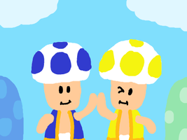 Blue Toad and Yellow Toad by DragonQuestWes