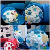 Blue Bunny Sweets Headphones by AndyGlamasaurus