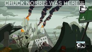 Chuck Norris Was Here!!!!!!! by yefta03