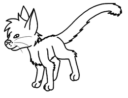 Simple Free Cat Line Art by toto999jr2
