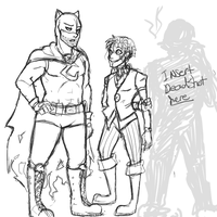 Secret six redesign fun! -sketch- by marionetteluv