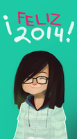 Happy 2014 by Haru-mon
