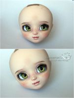 Pullip head repaint 2 by kamarza