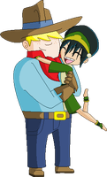 Clay and Toph by juanito316ss