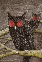 North Wood Owls by inner-etch