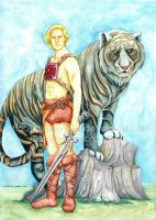 He-man and Battle Cat by Queen-Uriel