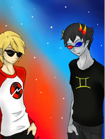 Dave and Sollux by xxshadowbloodxx