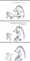 Foxes are so small... by Alcira