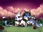 Out there, there is a beautiful sky// commission by Belliko-art