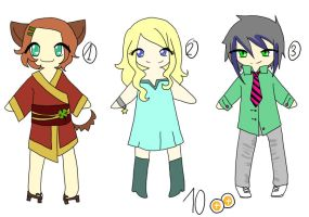Chibi Adoptables -Closed- by ThePaperCard