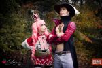 One Piece - Perona and Mihawk by Calssara