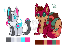 Adoptables! by starsleeps
